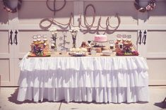 Lulu's Cowgirl Chic Birthday Party // Hostess with the Mostess® Cowboy Party, O Cowboy, 10th Birthday Parties, Birthday Bash, Birthday Party Themes, Birthday Ideas, Farm Birthday, Kid Parties, Third Birthday