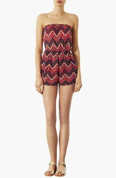 Topshop Zigzag Print Romper available at #Nordstrom