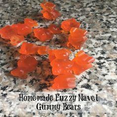 Super easy (and super cute) fuzzy navel homemade gummy bears! Alcohol Gummy Bears, Drunken Gummy Bears, Alcohol Candy, Best Gummy Bears, Homemade Gummy Bears, Homemade Gummies, Homemade Candies, Grass Fed Gelatin, Fuzzy Navel
