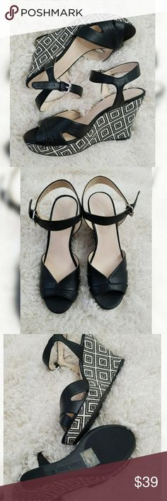 Black Nine West Platform Wedges Sandals Black Nine West Platform Wedges Sandals size 9. Brand new! Nine West Shoes Wedges