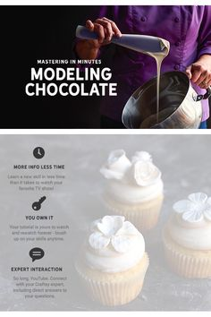 Make Modeling Chocolate: Welcome to the magic of modeling chocolate, demystified! Starting with her tried and true recipe, Craftsy expert Rachael Teufel will help you master a few essential techniques for making and working with this tasty fondant alternative. #MasteringinMinutes
