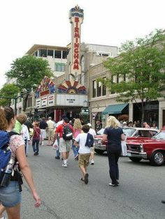 Birmingham Theater with classic cars