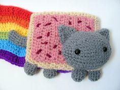 Crochet PATTERN  Amigurumi Pop Tart Cat Nyan Cat Scarf por MevvSan