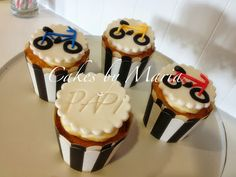Bicycle Cupcakes ~ Cakes by Maria