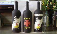 Pintura em garrafas - Clube de Regatas Vasco da Gama