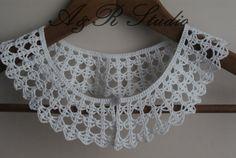 White Crochet Collar. Hand made. by AandRstudio on Etsy, $18.00