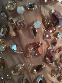 A close up of the Swarovski Elements used on a piece from Alexandre Vauthier's Spring Couture 2013 collection