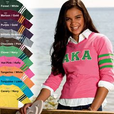 Sorority Clothing Football Style Tee from Enza $27.95 #sorority #clothing #football