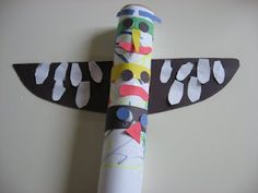 Totem Pole Craft - No Time For Flash Cards
