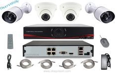 176.61$  Watch now - http://alishs.worldwells.pw/go.php?t=32574209922 - P2P NVR kit 4pcs HI3518C 960P IP Camera Night Vision Security Surveillance System 4 Channel Kit for Home Factory Supermarket Use