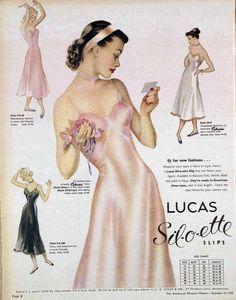 1949 Lucas Sil-o-ette Slips advertisement