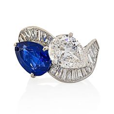 Today's sale at @ragoauctions has some real stunners including these diamond and sapphire pieces.