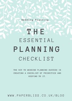 We've created our very own wedding planning checklist, based on a typical planning period, giving you a handy timeline of all the things you need to do… Wedding Expenses, Wedding Planning Checklist, The Essential, Priorities, 12 Months, Essentials, How To Plan, Create, Timeline