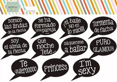 frases personalizadas - photobooth - props - casamientos 15 Party Photo Frame, Wedding Photo Booth Props, Party Props, I Party, Party Ideas, Mexican Party, Ideas Para Fiestas, Fiesta Party, 30th Birthday