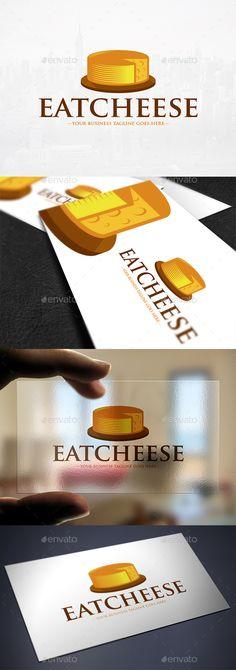 Cheese Logo Template: Food Logo Design Template by BossTwinsMusic. Food Logo Design, Modern Logo Design, Logo Food, Logo Design Template, Menu Design, Logo Templates, Design Logos, Graphic Design, Cheese Design
