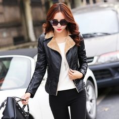 80 Most Stylish Leather Jackets for Women in 2017  - You cannot say that your wardrobe is complete if you do not have a leather jacket. Leather jackets are highly essential for women in different seasons... -  women-leather-jackets-2017-66 .