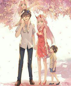 Hiro und Zero Two Anime: Liebling im FranXX - Darling in the FranXX - Art Manga, Manga Anime, Otaku, Familia Anime, Yuri Anime, Zero Two, Best Waifu, Darling In The Franxx, Cute Anime Character
