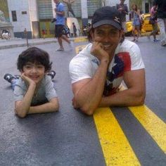 Hrithik Roshan with his son