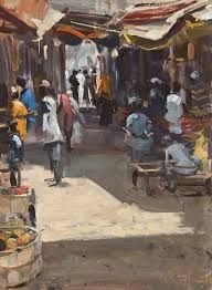 Lamu town market II, 2011,  Friedel Anderson