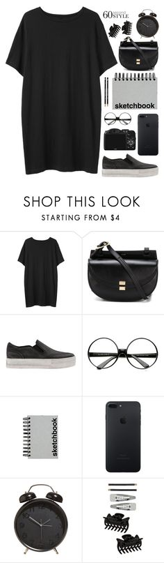 """Sketchbook."" by sabreerae ❤ liked on Polyvore featuring Organic by John Patrick, CO, Chloé, Ash, ZeroUV, Paperchase, Dorothy Perkins, tshirtdresses and 60secondstyle"