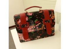 Preppy Style Vintage Women's Tote Bag With Oil Painting Design (RED) China Wholesale - Sammydress.com