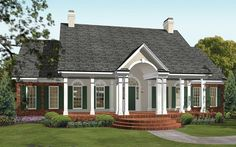 House Plans One Story, House Plans And More, One Story Homes, New House Plans, Story House, Colonial House Plans, French Country House Plans, Southern House Plans, Master Suite