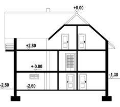 DOM.PL™ - Projekt domu DP frydman CE - DOM PK1-23 - gotowy koszt budowy Portal, House Plans, Floor Plans, Mai, Model, Scale Model, House Floor Plans, Models
