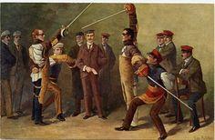 Mühlberg - Auf die Mensur - Academic fencing - Wikipedia, the free encyclopedia
