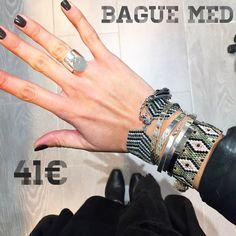 """Bague """"Med"""" argent 925 via ✨ Petits Plaisirs ✨.style Marc Deloche - 41€"""