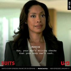 Tell us in the comments below, then re-watch this episode and catch up on all of Suits online or On Demand before. Serie Suits, Suits Tv Series, Suits Tv Shows, Tv Show Quotes, Movie Quotes, Harvey Specter Suits, Suits Harvey, Boss Babe, Girl Boss