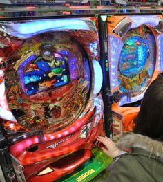 Pachinko , a gambling game originating in Japan