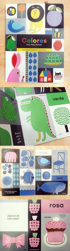 Colores. Coco Books. Precioso libro de primeros conceptos de la mano de Aino-Maija Metsola, diseñadora de Marimekko.