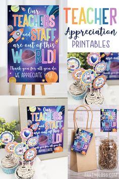 Teachers Day Gifts, Staff Gifts, Teacher Gifts, World Teacher Day, World Teachers, Volunteer Appreciation Gifts, Galaxy Theme, Teacher Thank You, School Gifts