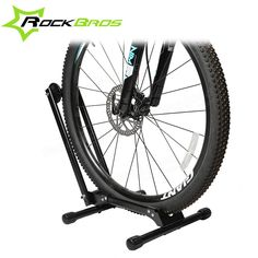 ROCKBROS Portable Double Pole Bicycle Rack Repair Support Frame MTB Rack Display Stand