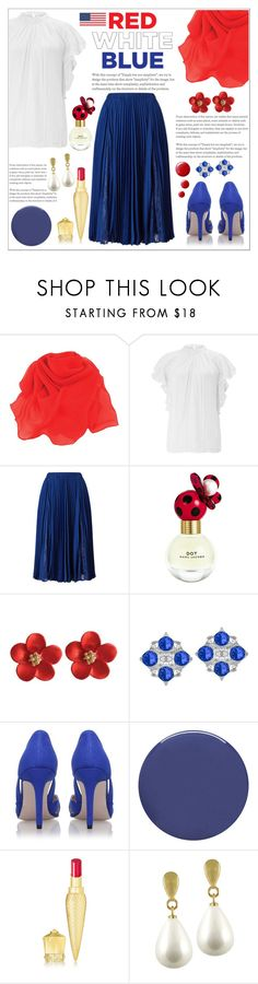 Red, White & Blue: Celebrate the 4th! #1 by eternal-collection on Polyvore featuring Miss KG, Christian Louboutin, Marc Jacobs, Smith & Cult, Topshop and Monsoon