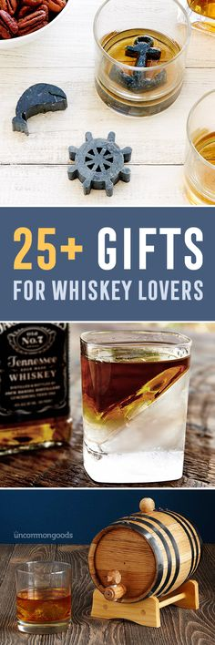 From stones to wedges and recipes to flasks, 25+ gifts for whiskey lovers.