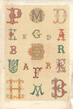 DropCapSet (1882)  #vintage #alphabet