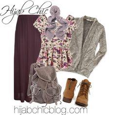 Hijab Style: Aeropostale brown cardigan