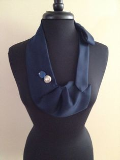 Blue tie necklace  on Etsy, $5.00