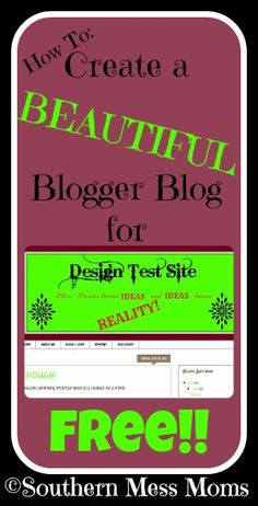 A free way to create a unique and beautiful blog on blogger!