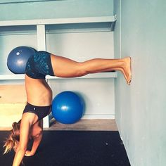 Training for handstand push-ups!