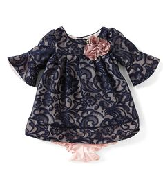 8803d345903 Laura Ashley London Newborn-24 Months Patterned Lace A-Line Dress