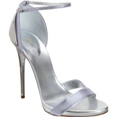 Giuseppe Zanotti Plated Heel Metallic Sandal ($299) ❤ liked on Polyvore featuring shoes, sandals, heels, sapatos, high heels, high heel sandals, giuseppe zanotti sandals, ankle wrap sandals, high heeled footwear and leather sole shoes
