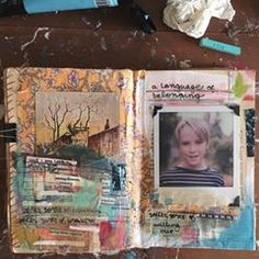 but i am looking for my own language. among flowers, growing —> softer. we tear out a window. softer sorts of whimsy. softer sorts of bravery. bring them together —> softer sorts of spilling out. a language of belonging. polaroid from august 2017. just before our alley walk. #mixedmedia #artjournal #arttherapy #intuitiveart #collage #foundpoetry #infp #highlysensitiveperson #eugeneartist #quietnoticing #polaroidsx70 #livecreatively #upcycled #repurposed #vintagebook #alteredbook