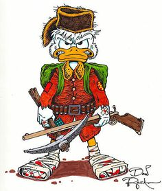 Scrooge McDuck by Don Rosa Disney Duck, Disney Mickey, Disney Art, Disney Pixar, Walt Disney, Disney Best Friends, Mickey And Friends, Pato Donald Y Daisy, Donald Duck