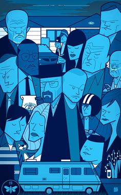 Movie themed illustrations by Ale Giorgini
