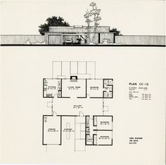 Plans for 4 Model Eichler Homes in Concord