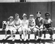 Our Gang SPANKY's GANG! With Buckwheat the little afro American boy. Always got in trouble...