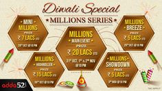 Diwali Special Millions Series on Adda52 with 52 Lac in Prize Money; Satellites Start Today