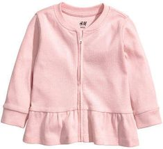 Jersey cardigan with a flounce - Light pink - Kids Fashion Kids, H&m Fashion, Baby Girl Fashion, H&m Kids, Baby Girl Tops, Pink Kids, Organic Baby Clothes, Kind Mode, Shirt Shop